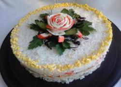 Салат-торт «а ля суши»