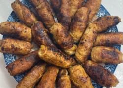 Пальчики из свинины с маринованными огурчиками