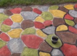 Чем покрасить садовую дорожку? Краска для бетона