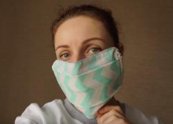 Шьем многоразовую маску без выкройки