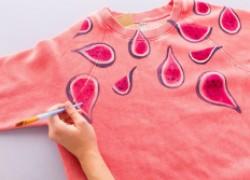 Рисование на одежде акриловыми красками