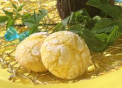 Лимонное мраморное печенье