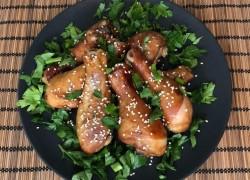 Куриная голень в медово-соевом маринаде