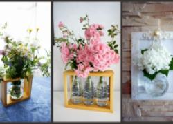Необычные вазочки из простых баночек