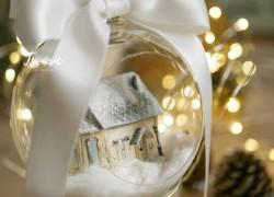 Шар с миниатюрой на новогоднюю елку