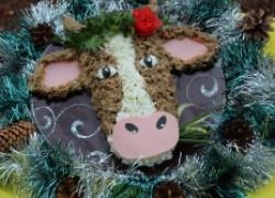 Салат «новогодний бычок»