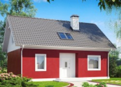 Простой дом для небольшого участка, дешевый в эксплуатации