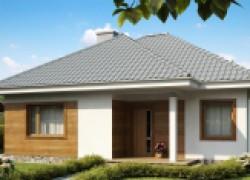 Одноэтажный практичный и уютный дом с крытой террасой