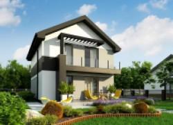 Компактный двухэтажный дом для узкого участка