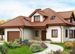 Просторный и уютный дом с гаражом, эркером и мансардными окнами