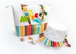 Шьем пляжную сумочку и панамку для девочки