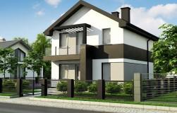 Компактный двухэтажный дом для узких участков