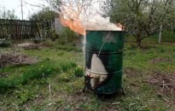 Сделал бочку для сжигания мусора своими руками
