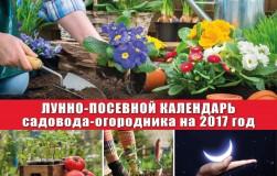 Лунно-посевной календарь садовода-огородника на 2017 год
