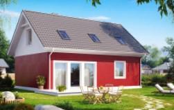 Практичный дом для небольшого участка, простой в строительстве, дешевый в эксплуатации