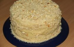 Торт со сгущёнкой на сковороде