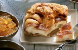 Слоеный пирог с творогом и цукатами