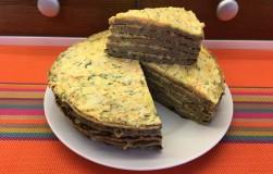 Печеночный торт к новогоднему столу