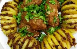 Картошка-гармошка с фаршем