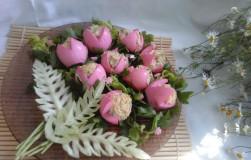 Яйца, фаршированные печенью трески
