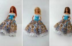 Пышное платье для куклы Барби без выкройки