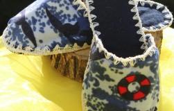 Тапочки - шлепанцы из подручных материалов