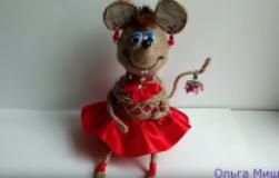 Мышка-шкатулка из бутылки и джута