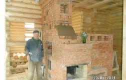 Русская печь с камином, или три в одном
