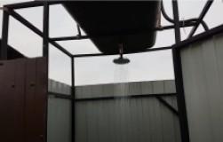 Летний душ из топливного бака