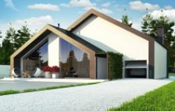 Современный мансардный дом со вторым светом