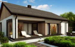 Практичный одноуровневый дом с современным экстерьером
