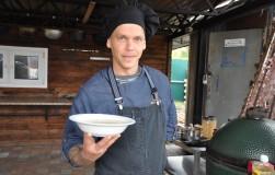 Крем-суп «мироди» с лососем и сливками