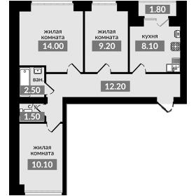 СРОЧНО 3-хкомнатная квартира
