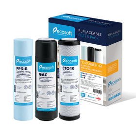 Комплект сменных картриджей Ecosoft Pack-2 угольный