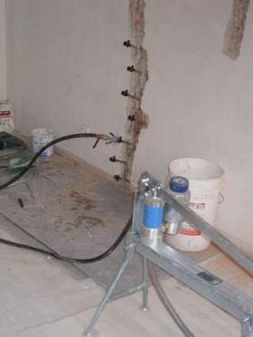 Ремонт трещин фундамента, стен инъекционный