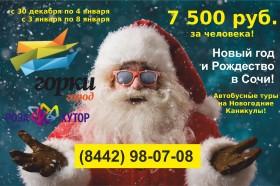 """Новогодний автобусный тур """"Сочи+Красная Поляна"""""""