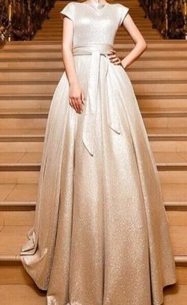 свадебное платье мерцающее