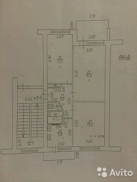 3-к квартира, 57 м², 2/5 эт. Базовская