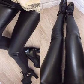 Штаны с кожаными вставками спереди с ремнём