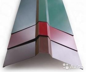 Планка конька плоского 150*150*2000 RAL 6005 зелен