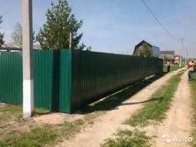 Забор из профнастила DZr 0551