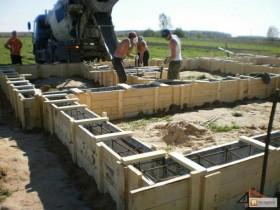 Фундамент бетон копка