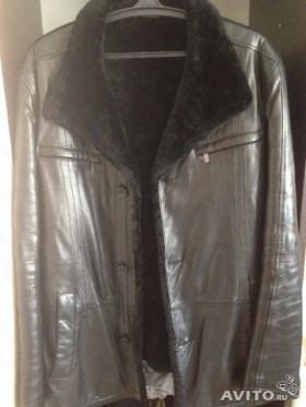 Зимня кожаная куртка-пальто