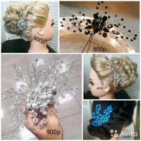Свадебные украшения в причёску