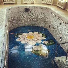 Бассейны с мозаикой и римской лестницей под ключ