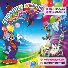 Организация детских праздников,аниматоры