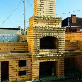 Мангал,камин,печь,барбекю комплекс