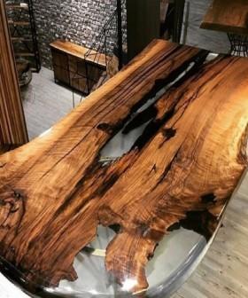 Изготовление красивых столешниц, столов и фасадов с использованием жидкого стекла