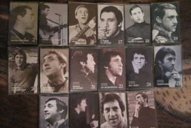 Аудиокассеты с песнями Высоцкого с аудиоплейером для их прослушивания.