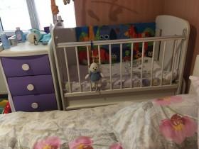 Детская Кроватка с комодом и пеленатором